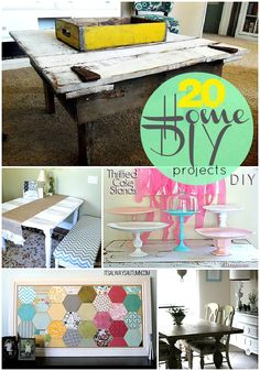 20 Home DIY Projects to make!! -- Tatertots and Jello #DIY