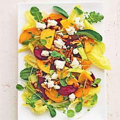 Goat Cheese and Roasted Beet Salad with Lemon Vinaigrette