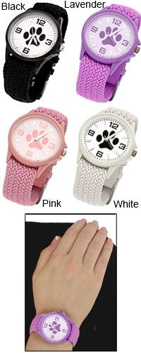 Paw Print Woven Watch at The Animal Rescue Site