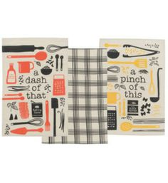 Retro Dish Towel Set from Organization Store