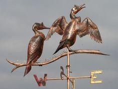 Copper Shags Weathervane by Greens Weathervanes