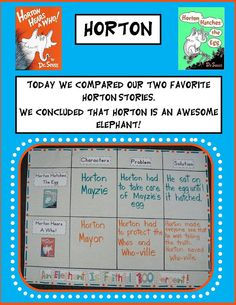 Comparing two Horton stories and other ideas
