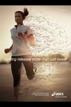 Running releases more than just stress. #Inspiration. #Fitness #Workout #Weight_loss