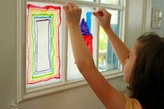 Melted Crayon Stained Glass Window