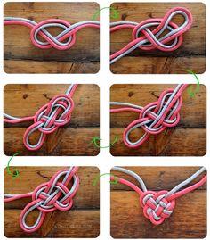 DIY Heart Knot Bracelet jewelry heart bracelet diy crafts easy crafts craft idea crafts ideas diy ideas diy crafts diy idea diy project easy
