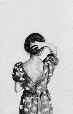 Girl illustration.