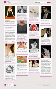 In Pink Website design 6