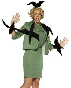 The birds!   Awesome costume idea!  Next year!