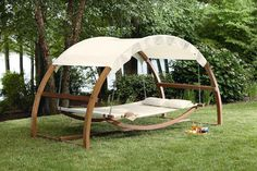 I would never come in the house!! Garden Oasis Arch Swing - Outdoor Living - Patio Furniture - Swings