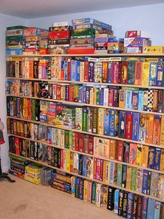 Wow!  That's some collection of board games!