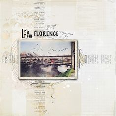 F for Florence by Arte Banale at @studio_calico