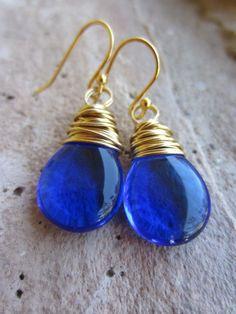 pretty blue and gold
