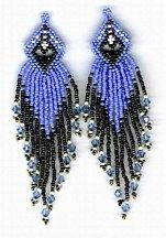 Inner Heart Earrings Pattern by Charlotte Holley - Beaded Legends by Chalaedra at Bead-Patterns.com