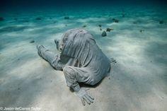 Jason de Caires Taylor - underwater sculptures. check it out.