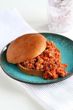 Healthy Turkey Sloppy Joe Recipe...Always a family favorite! | cookincanuck.com #recipe
