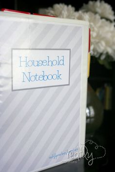 Redfly Creations: Household Notebook - Free Printables!