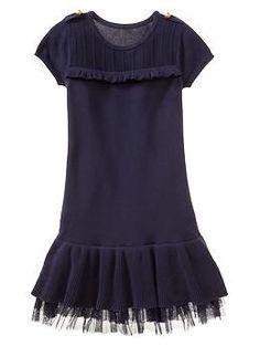 Navy Tulle sweater dress | Gap