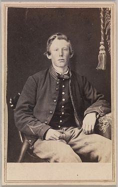 Private William Henry Lord, a cavalryman. CDV by George Wertz, Kansas City, Mo. A yet unmuddied enlistee from Bleeding Kansas, the last state to enter the Union before Fort Sumter, Lord was in the Eleventh Kansas Volunteer Cavalry; he was wounded in the shoulder in October 1864 but rejoined his company and was mustered out in September 1865.