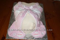 Cool Baby Bump Cake... This website is the Pinterest of birthday cake ideas