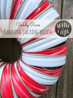 http://twelveoeight.blogspot.com/2013/11/candy-cane-canning-jar-ring-wreath.html