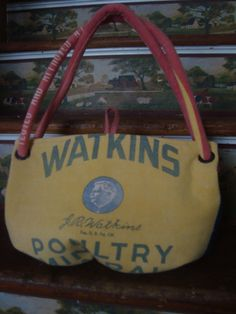 vintage chicken feed sack purse  Watkin's Poultry by ginnymae, $76.00