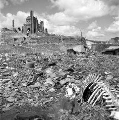 Unpublished. The landscape around Urakami Cathedral, Nagasaki, September, 1945.