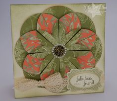The Paper Pixie: Dahlia Paper Medallion