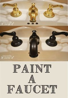 A low cost update: paint a faucet!