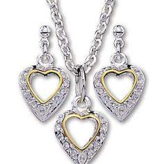 Montana Silversmiths Women's Heart Jewelry Set  #jewelryset  #hearts