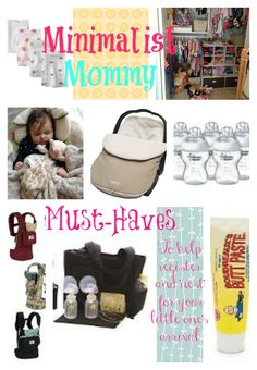 Minimalist New Mommy Must-Haves with a Baby via the Parenting Dance