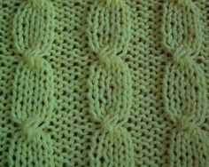 Knit stitch pattern - cable stitch
