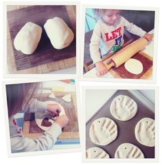 salt dough handprint ornaments - looks easy!