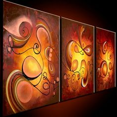 Wall of abstract art