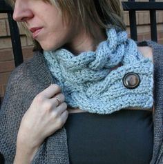 Blue Braided Double Wrap Shortie scarf by CoffeeAndT on Etsy, $20.00
