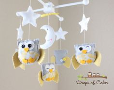 Baby Crib Mobile  Baby Mobile  Nursery Owl by dropsofcolorshop, $80.00