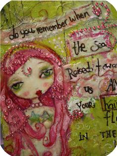 Suzi Blu art journal, suzi blu mermaids, media art, femal art, girl ii, suziblu, beauti art, art girl, girl art