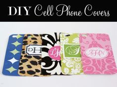 ThanksDIY Monogrammed Cell Phone Cases awesome pin