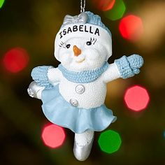 Snow Buddies Ballerina Ornament | Personal Creations