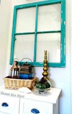 DIY Vintage window makeover.