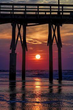 Sunrise in North Topsail Beach, North Carolina