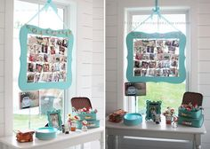Graduation party ideas! Cute frame idea for a teenager's birthday! Via KarasPartyIdeas.com - The place for all things party