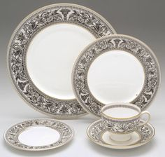 Wedgewood china   Florentine-Black by Wedgwood China at Replacements, Ltd.