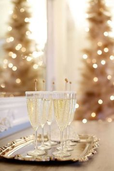 new year starts with champagne
