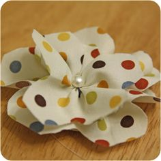 Polkadot Flower #Tutorial