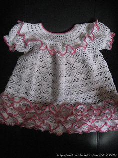Dress and Hat free crochet graph pattern
