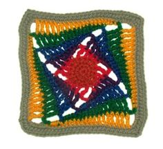 Rainbow #crochet granny square