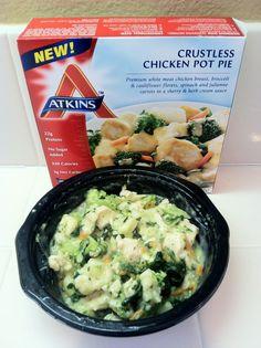 Atkins Crustless Chicken Pot Pie Review #lowcarb #atkins