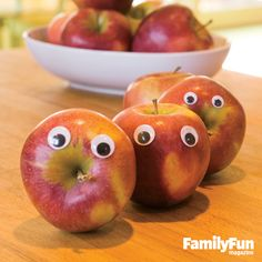 The Eyes Have It: Everyday objects gain a playful personality with simple additions. Randomly stick self-adhesive googly eyes of various sizes on objects around the house: fruits, veggies, toothbrushes, phones, mugs. Anything can be anthropomorphized. Leave a tray of extras in a handy spot and encourage your family to join in the fun. #FamilyFunMagDay