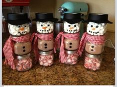 This would be a cute teachers gift. Almost anything could be put in the jars.