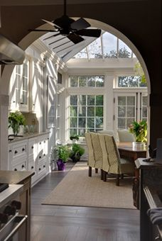 solarium addition, often a hall for dining space.
